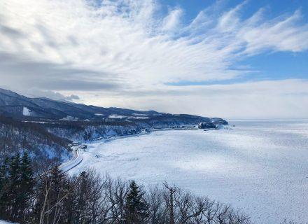 知床ウトロ温泉の流氷